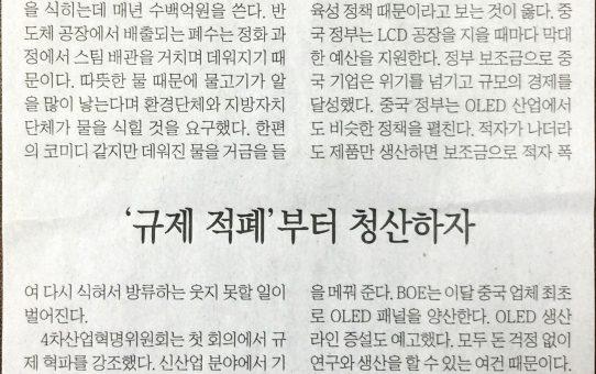 '규제 적폐'부터 청산하자 : 전자신문 데스크라인 (2017년 10월 24일 화요일)