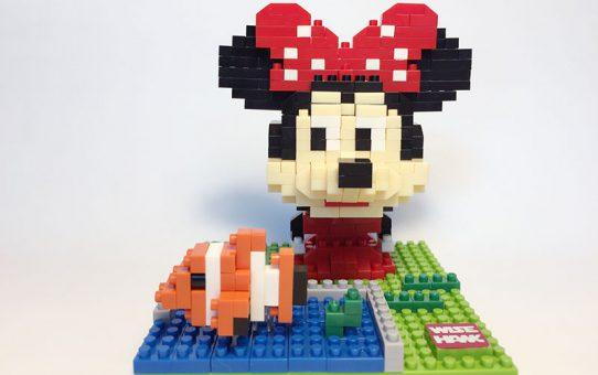 Nanoblocks Minnie Mouse met Nemo - Wise hawk